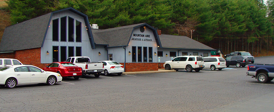 Mountain Aire Seafood & Steaks Restaurant. Located only a minute's drive from the Blue Ridge Parkway